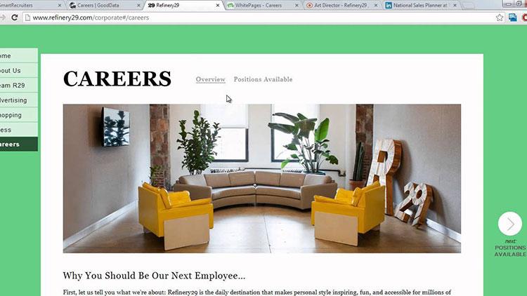 ATS system: Custom Career Site