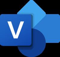 Visio organizational chart software logo.